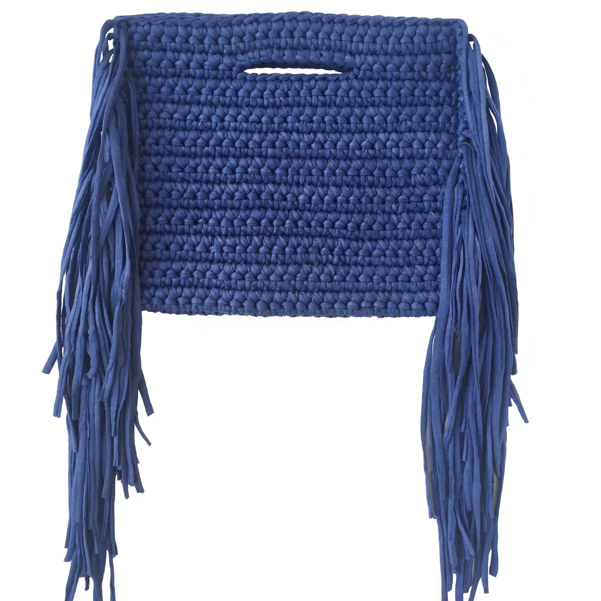 Binge Knitting Clutch Fringes Sides