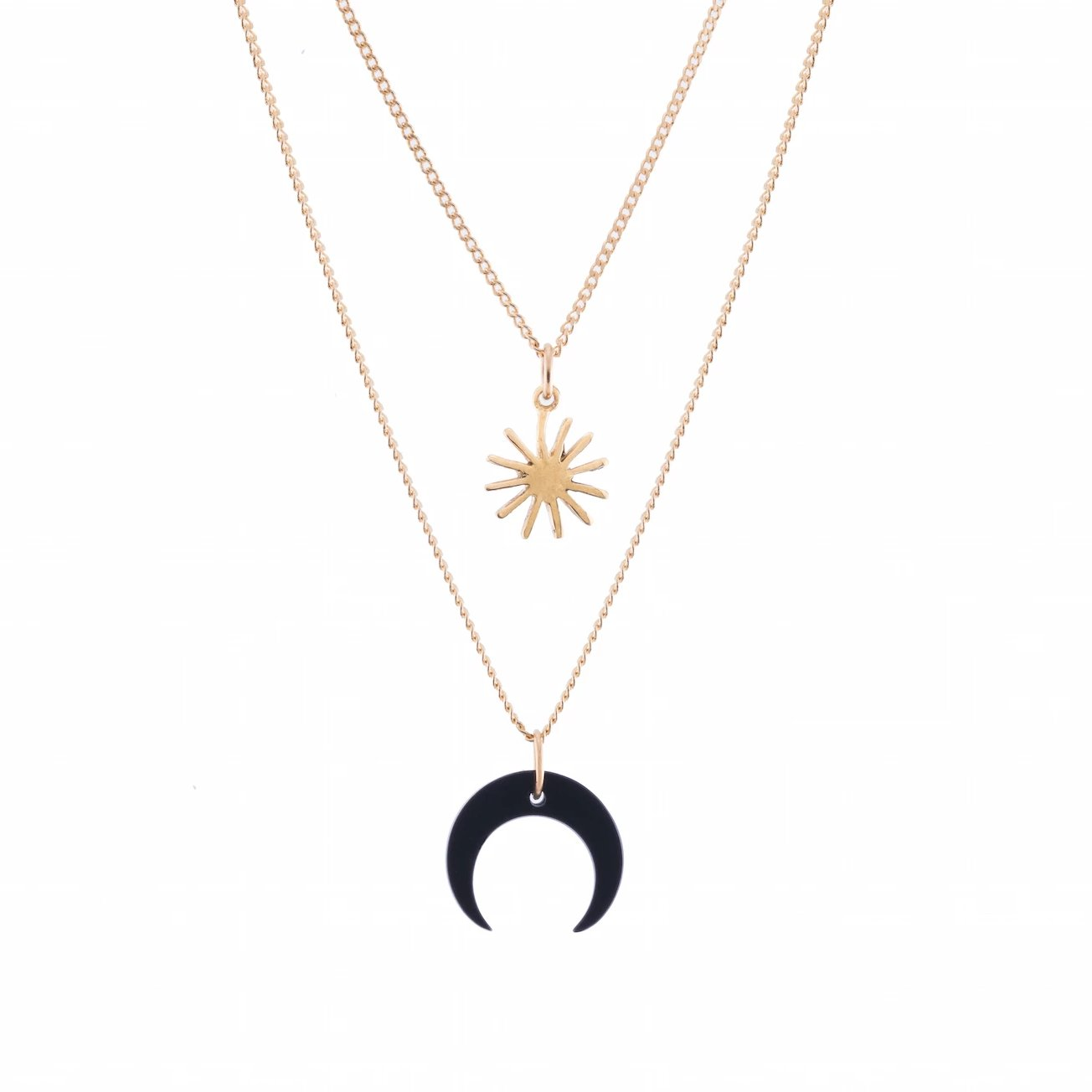 Chilemiel Immensity Moon & Star Necklace