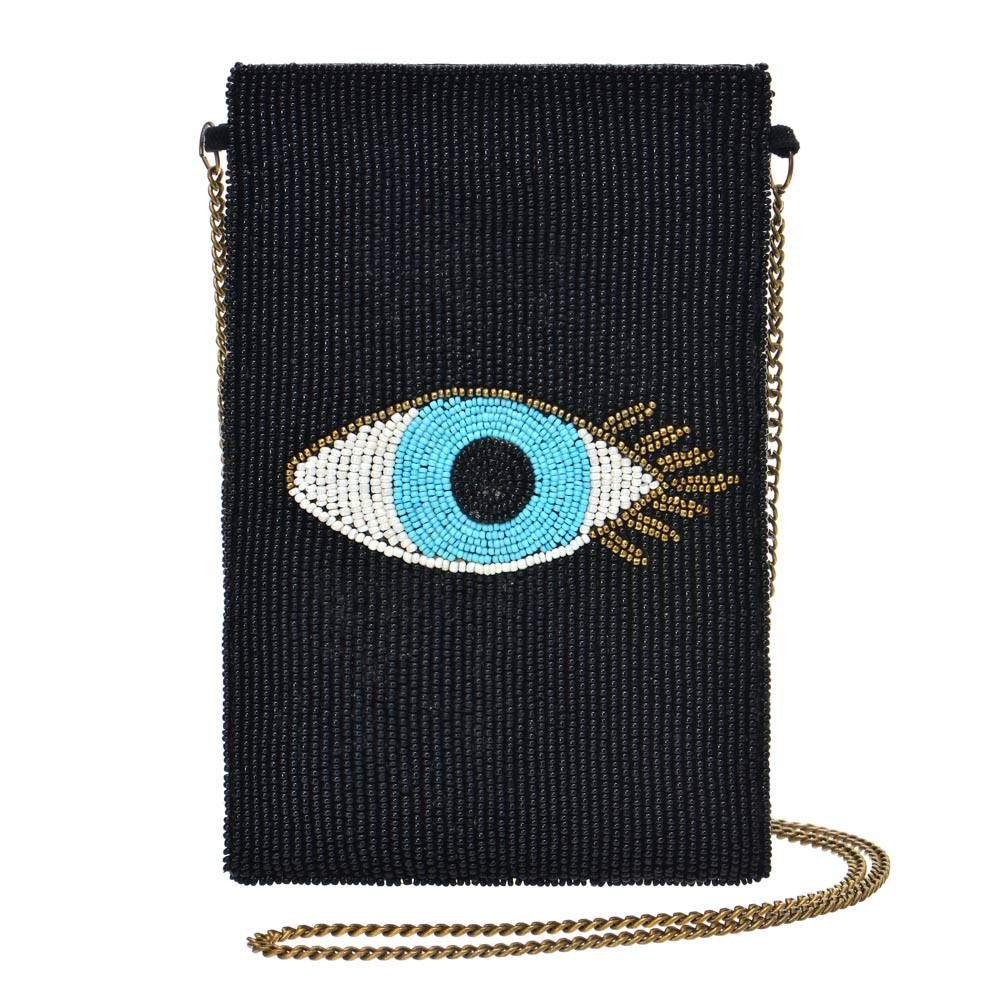 Guadalupe Evil Eye Cross Body - Black