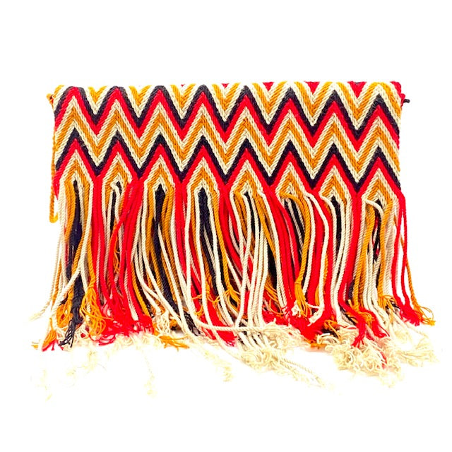 Maryipepe  Fringes Woven Clutch Bag
