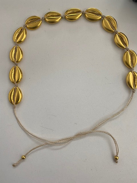Vangania Shell Choker w/ ALL Gold Plated Shells