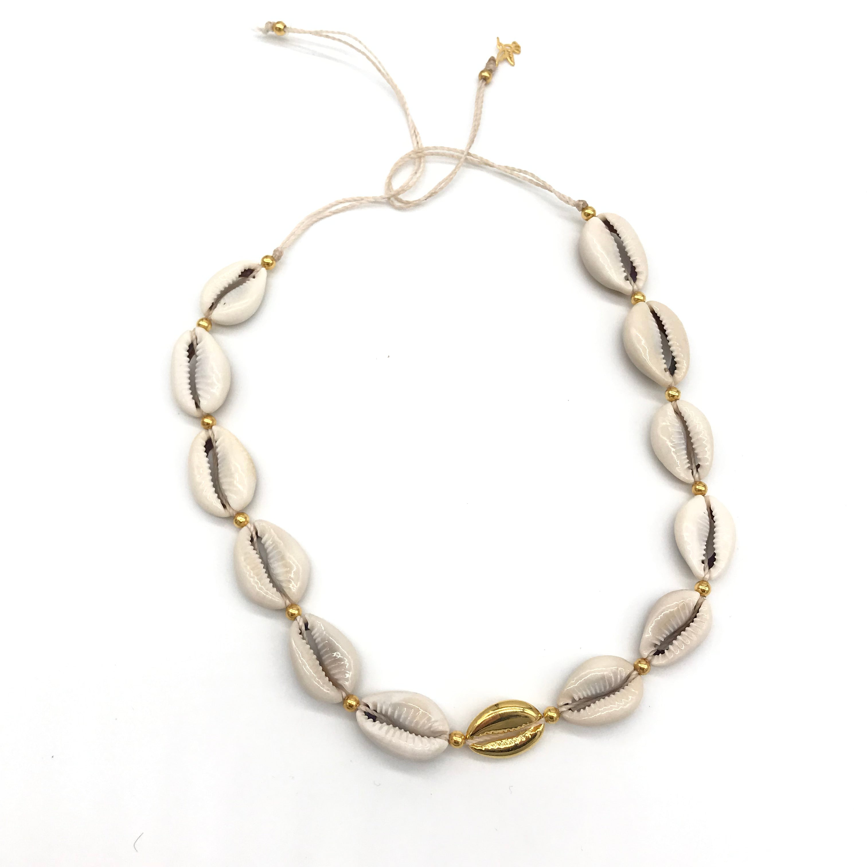 Vangania Shell Choker w/ Gold Plated Shell