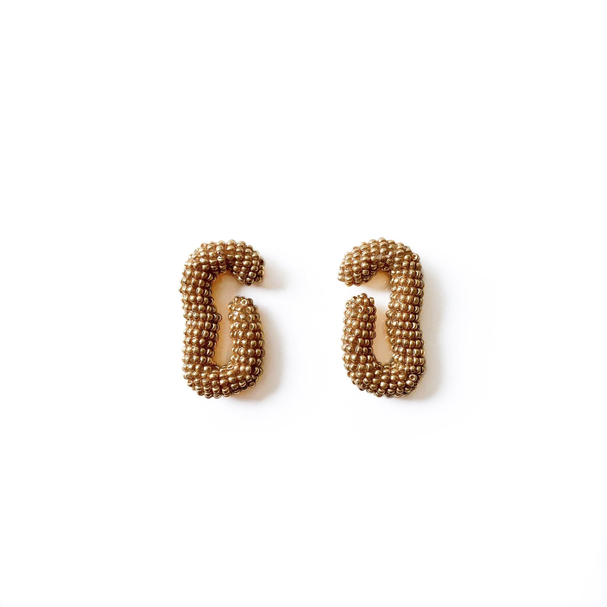 Susana Vega Lira C Hand Beaded Earrings