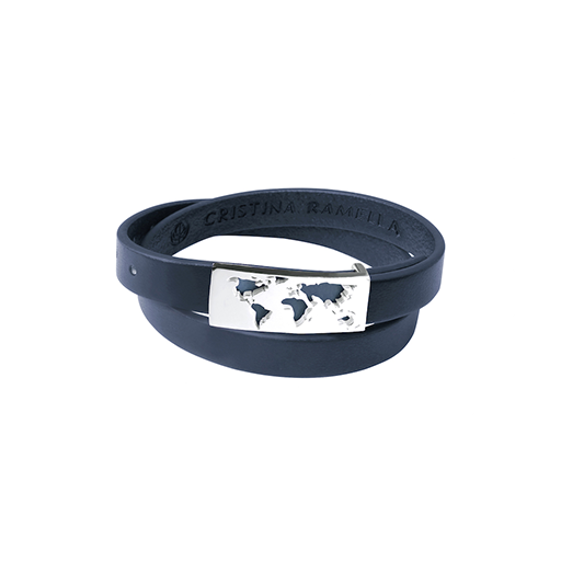 Cristina Ramella Map Leather Bracelet