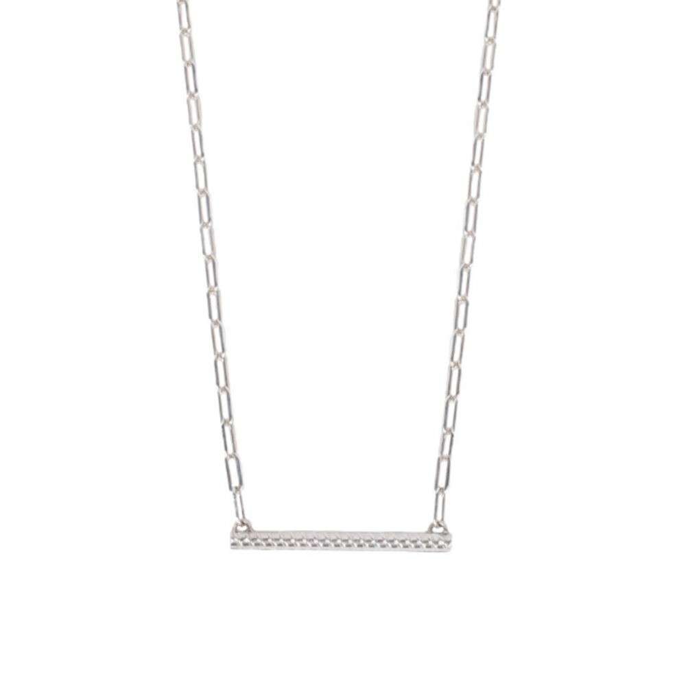 Silver Rod Necklace