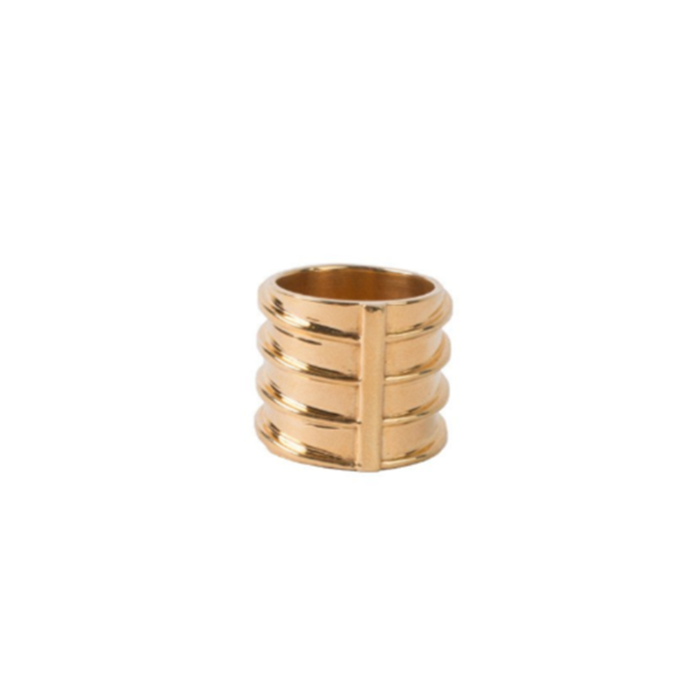 Gold Plated Rod Ring