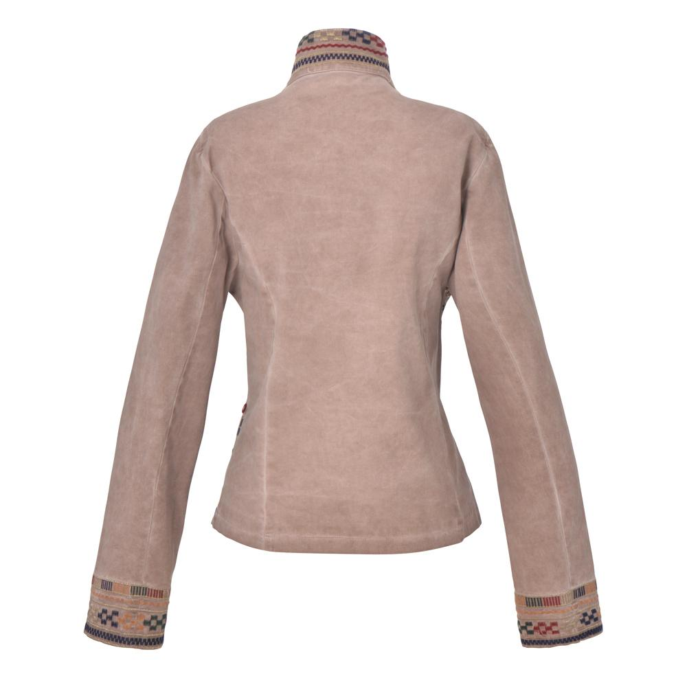 Guadalupe Sapphire Embroidered Jacket - Taupe