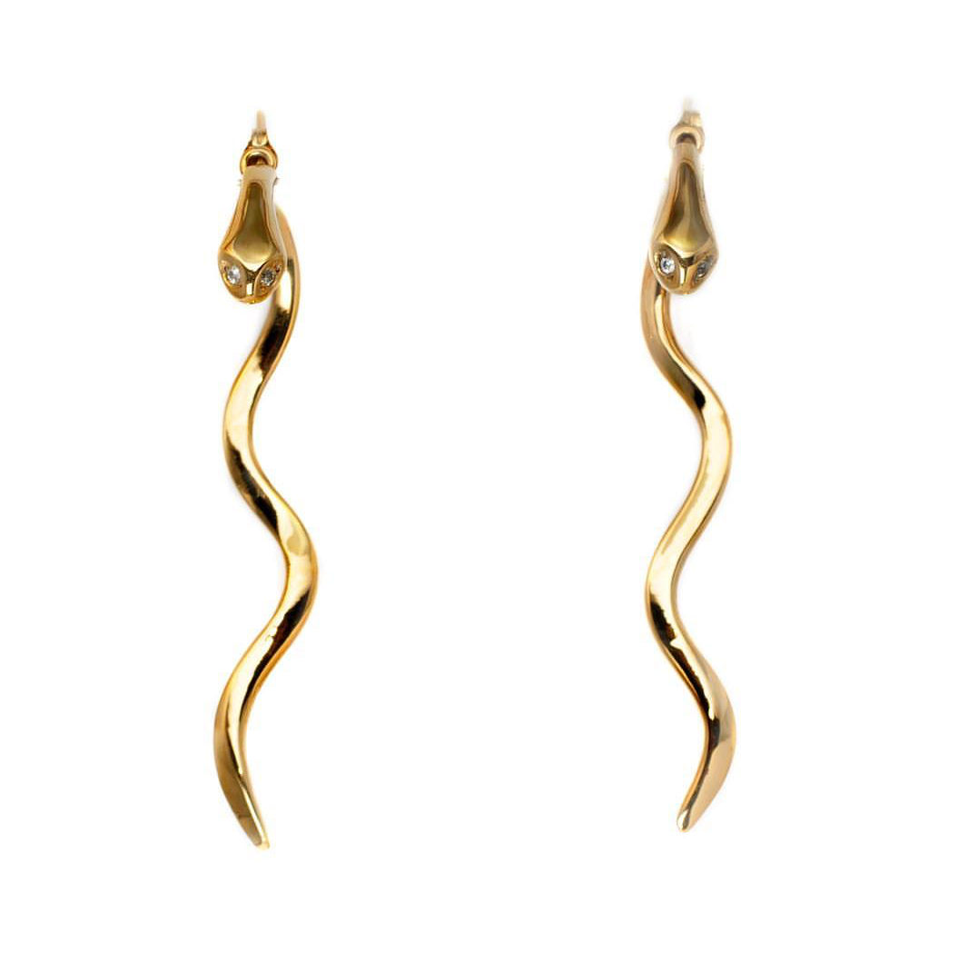 De la Rosa Snake Drop Earrings