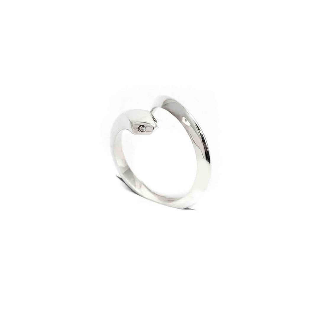 De la Rosa Baby Smooth Single Snake Ring