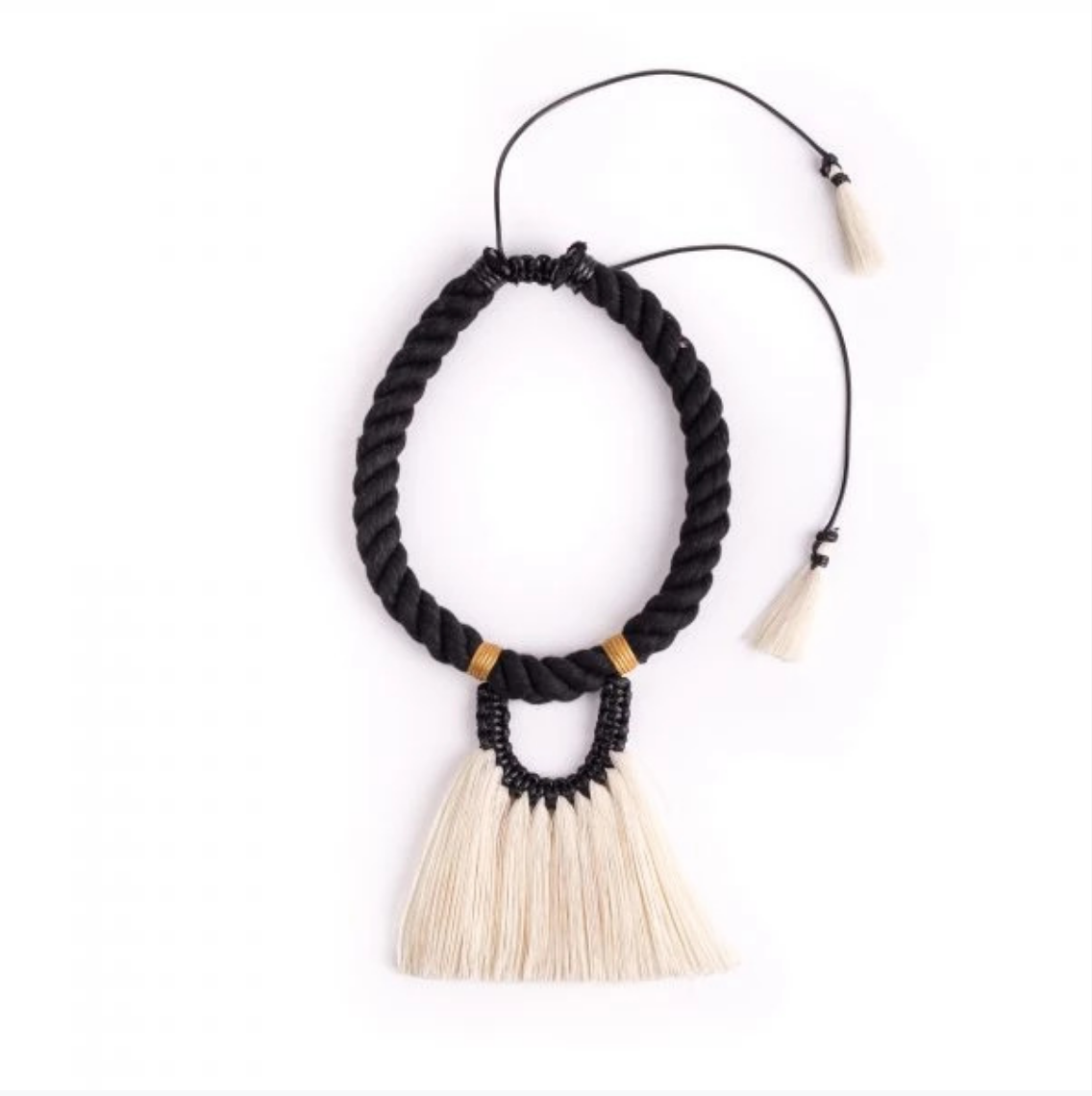 Caralarga Fantasma Natural Fiber Tassel Necklace IAH