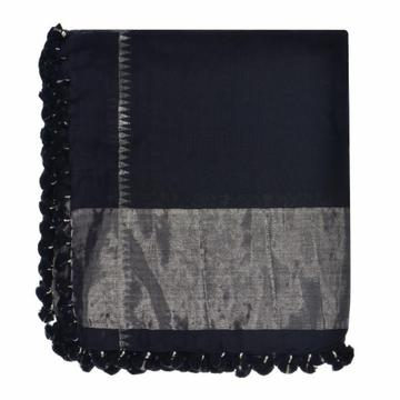 Guadalupe Tenley Scarf - Black & Silver