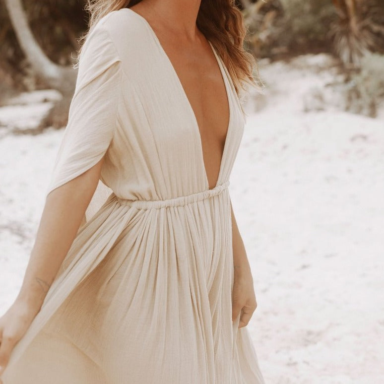 Spiritum Tulum Ada Cape Maxi Dress