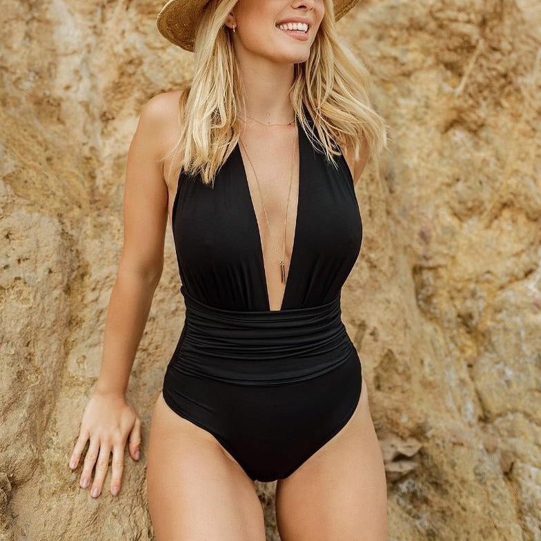 Sauipe Eva Halter Deep V One Piece