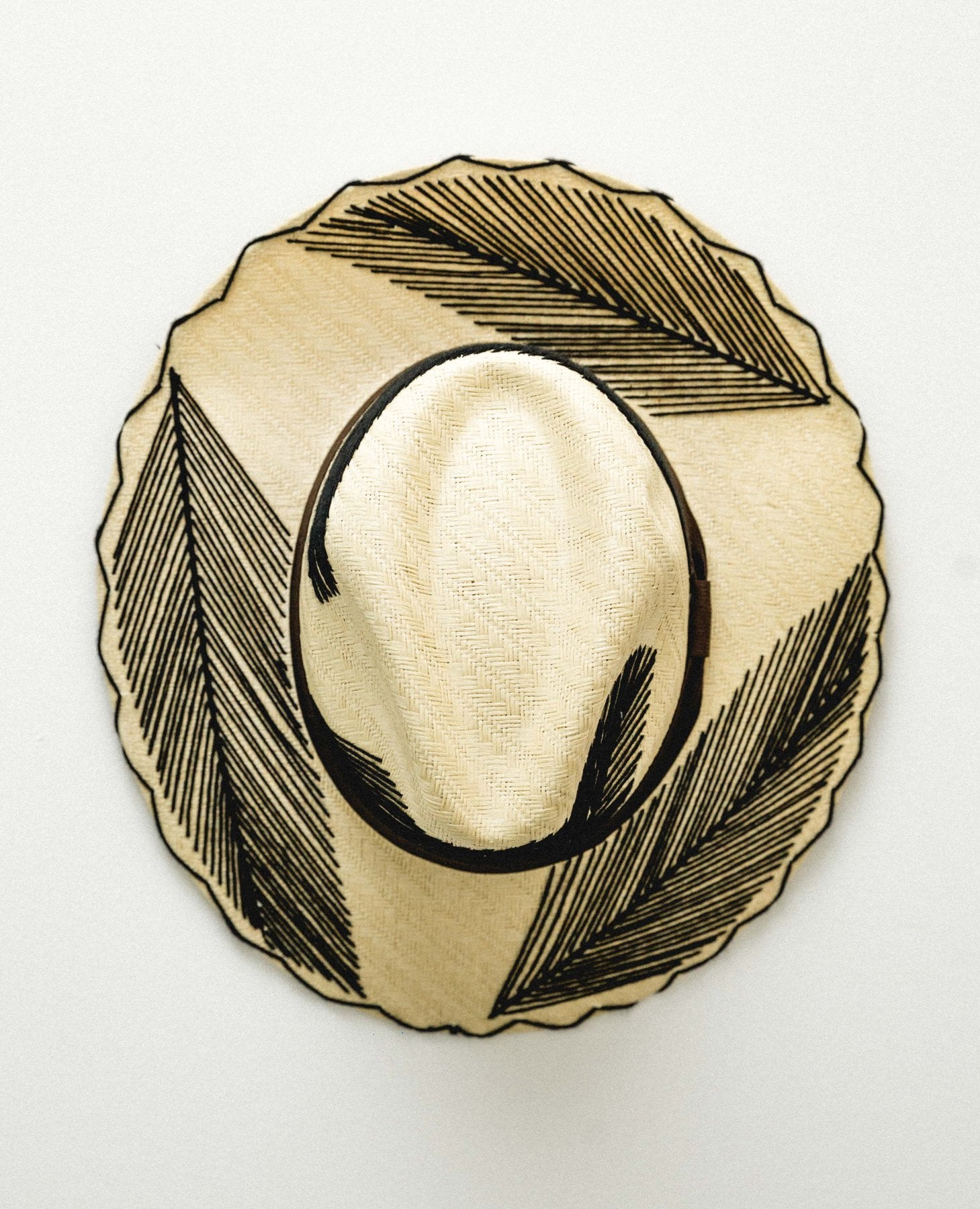 Summer Romero Hand Embroidered Straw Hat