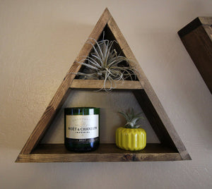 Triangle Floating Wall Shelves - Set of Three