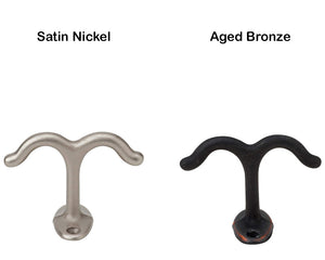 Ives Ceiling Hooks Aged Bronze Satin Nickel