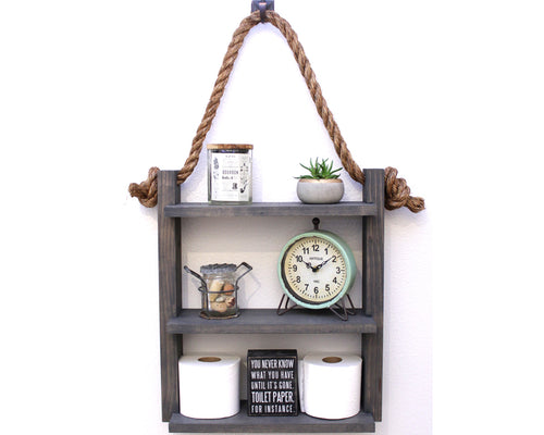 Hanging Bathroom Rope Shelf - Small