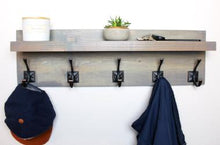weathered gray farmhouse coat rack