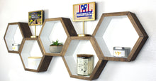 Hexagon Geometric Wall Shelves - Set of 5