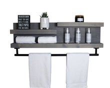 "32"" Bathroom Shelf Organizer with Modern Towel Bar - Modern Farmhouse Decor"