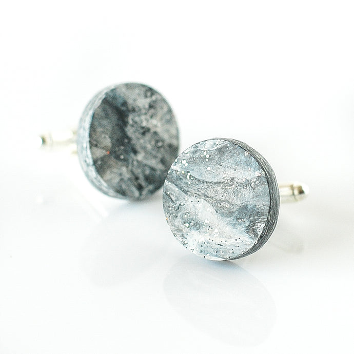 Grey Cufflinks with stainless steel findings