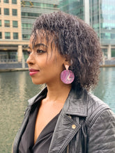 Load image into Gallery viewer, Light Pink Statement Earrings with Sterling Silver Posts