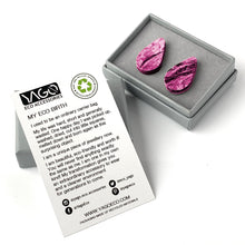 Load image into Gallery viewer, Pink Teardrop Studs Earrings with Sterling Silver 925 findings