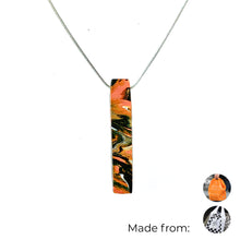 Load image into Gallery viewer, One Bar Necklace with 925 Sterling Silver Snake Chain