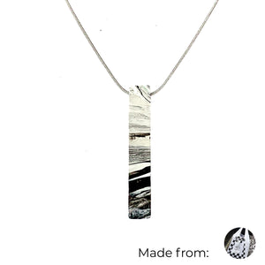 One Bar Necklace with 925 Sterling Silver Snake Chain
