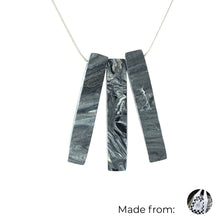 Load image into Gallery viewer, Three Bars Necklace with 925 Sterling Silver Snake Chain