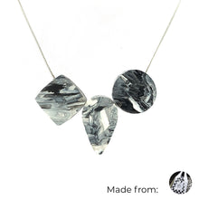 Load image into Gallery viewer, Three Elements Necklace with 925 Sterling Silver Snake Chain