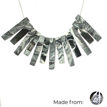Load image into Gallery viewer, Bib Bar Necklace with 925 Sterling Silver Snake Chain