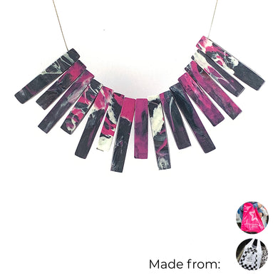 bib necklace eco friendly recycled zero waste