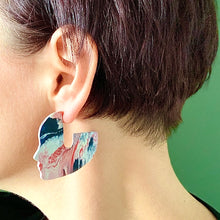 Load image into Gallery viewer, Face It 5cm Statement earrings with 925 Sterling Silver Pins