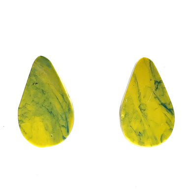 Yellow Statement  Earrings with 925 Sterling Silver Findings