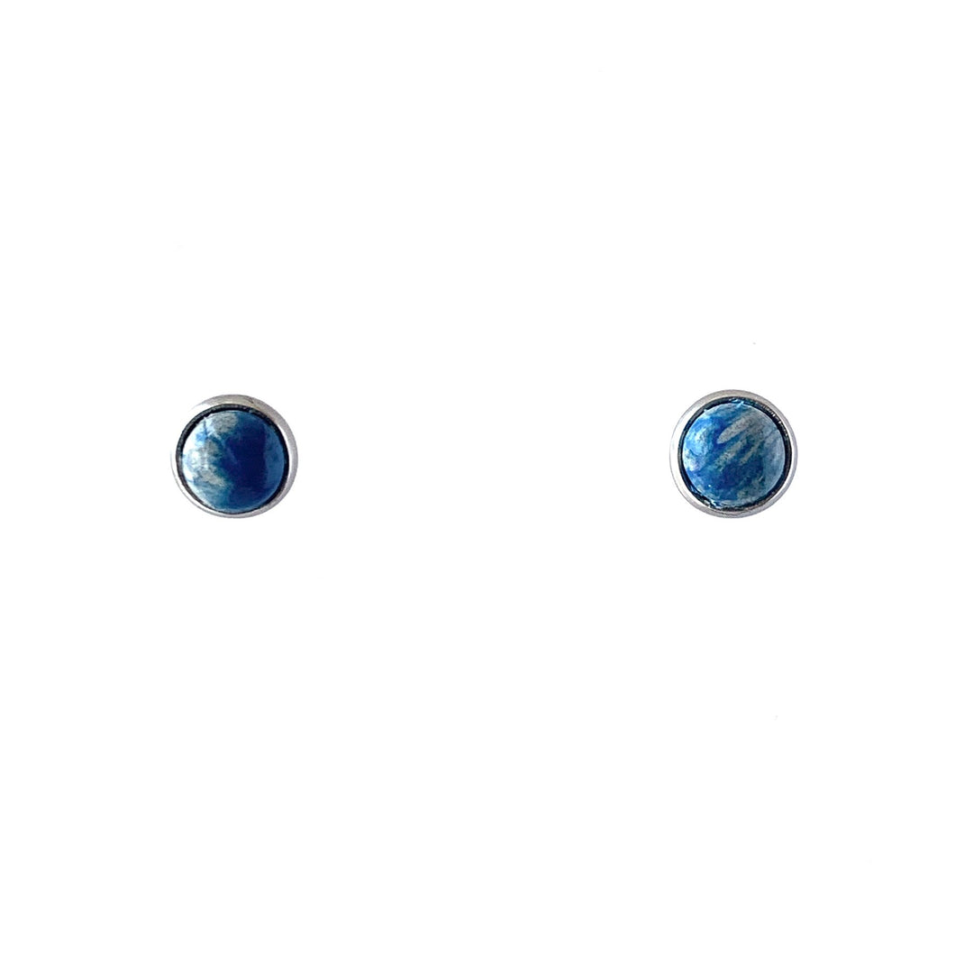 Navy Blue 6 mm Round Studs