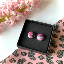 Load image into Gallery viewer, Pink 12 mm Round Studs