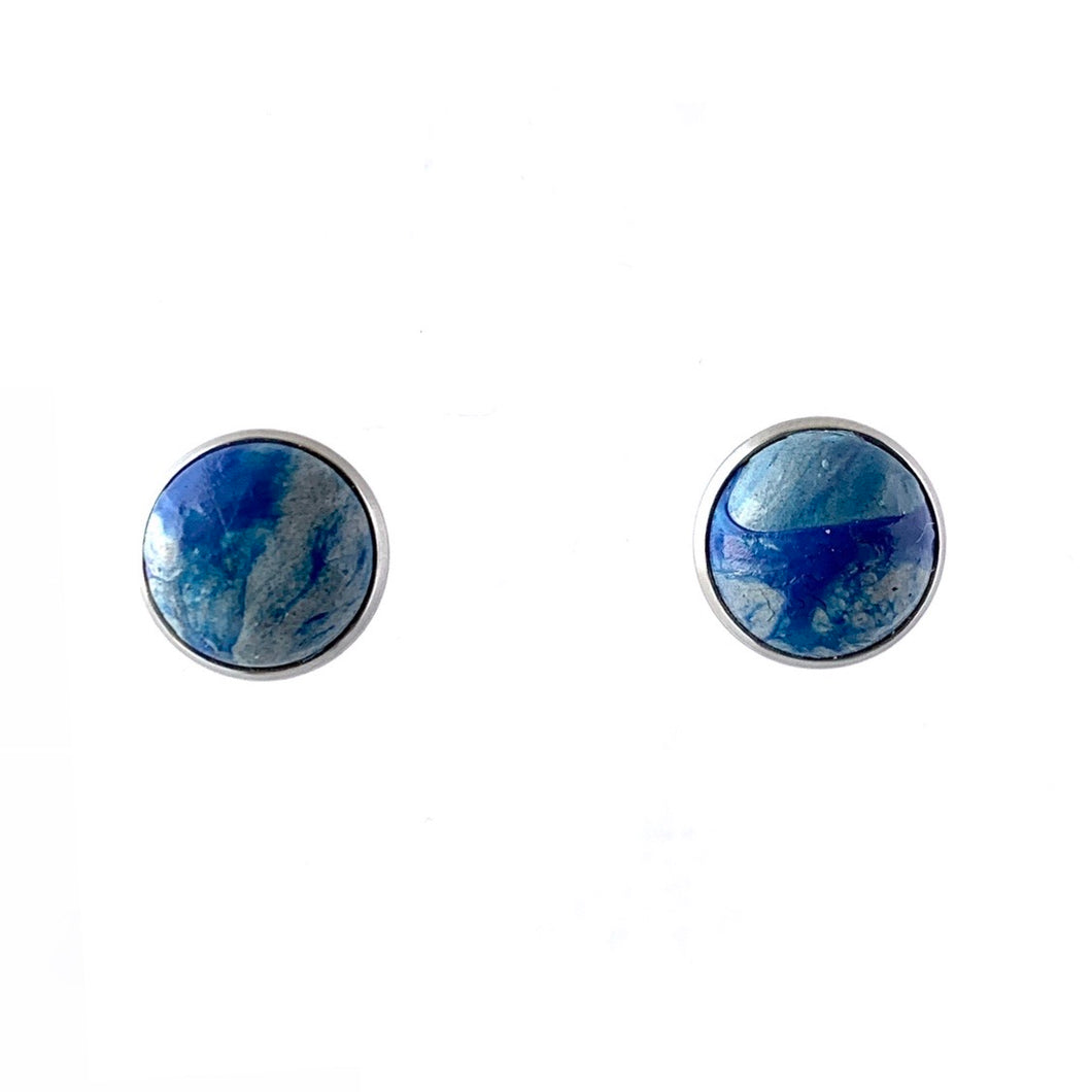 Navy Blue 12 mm Round Studs