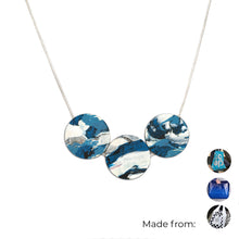Load image into Gallery viewer, Three Circles Necklace with 925 Sterling Silver Snake Chain