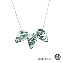 Load image into Gallery viewer, Three Teardrops Necklace with 925 Sterling Silver Snake Chain