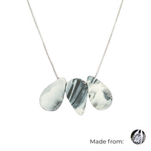 Load image into Gallery viewer, Three Teardrops Mix Necklace with 925 Sterling Silver Snake Chain