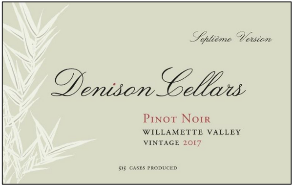 Denison Cellars Willamette Valley Pinot Noir 2017