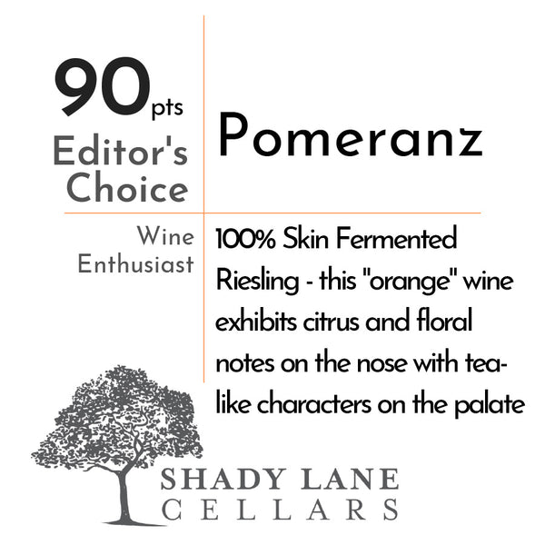 Shady Lane Cellars Riesling ''Pomeranz''