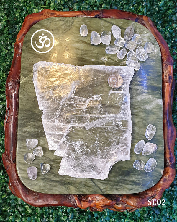 Fishtail Selenite Charging Plate