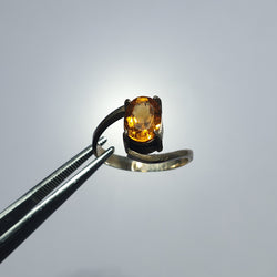 Citrine Ring (heated faceted gem)