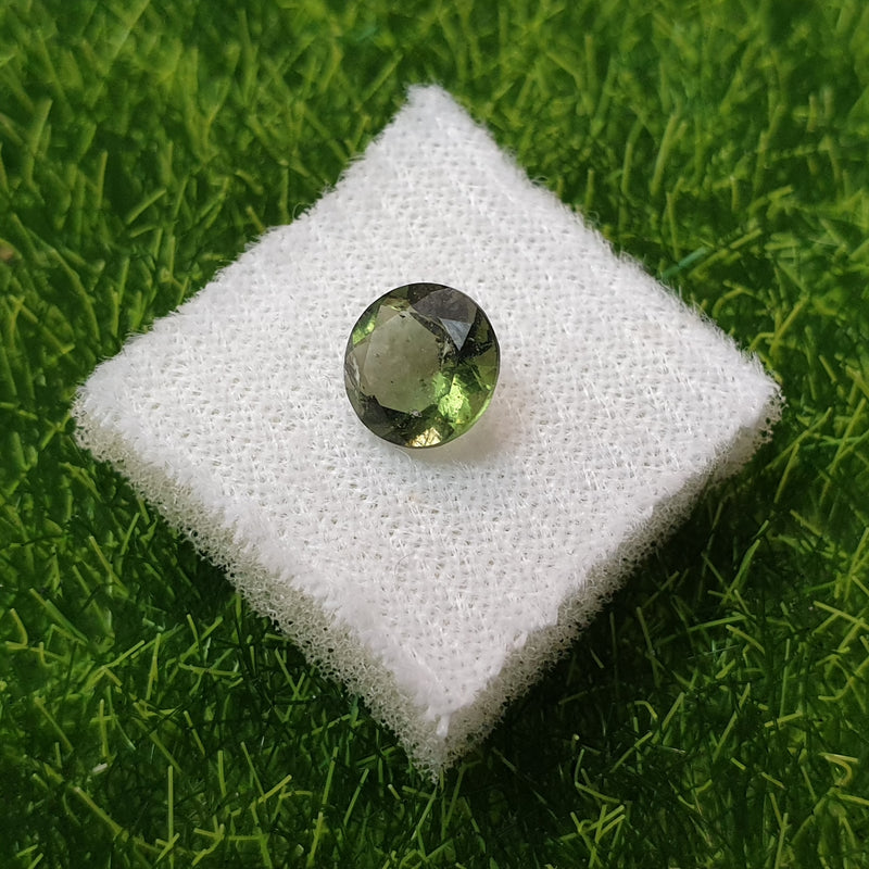 MOLDAVITE FACETED GEMSTONE