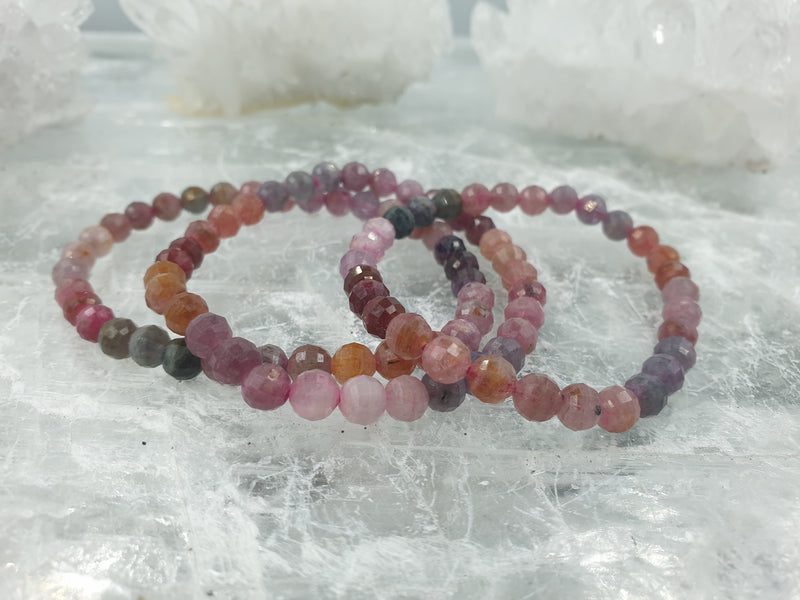Multicolored Spinel faceted 7mm