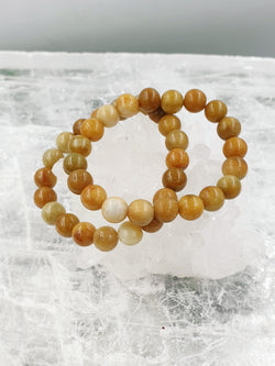 Yellow Jade Bracelet 10mm