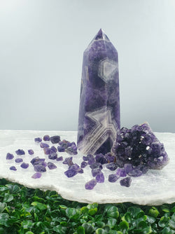 Chevron Amethyst Tower 0.95kg