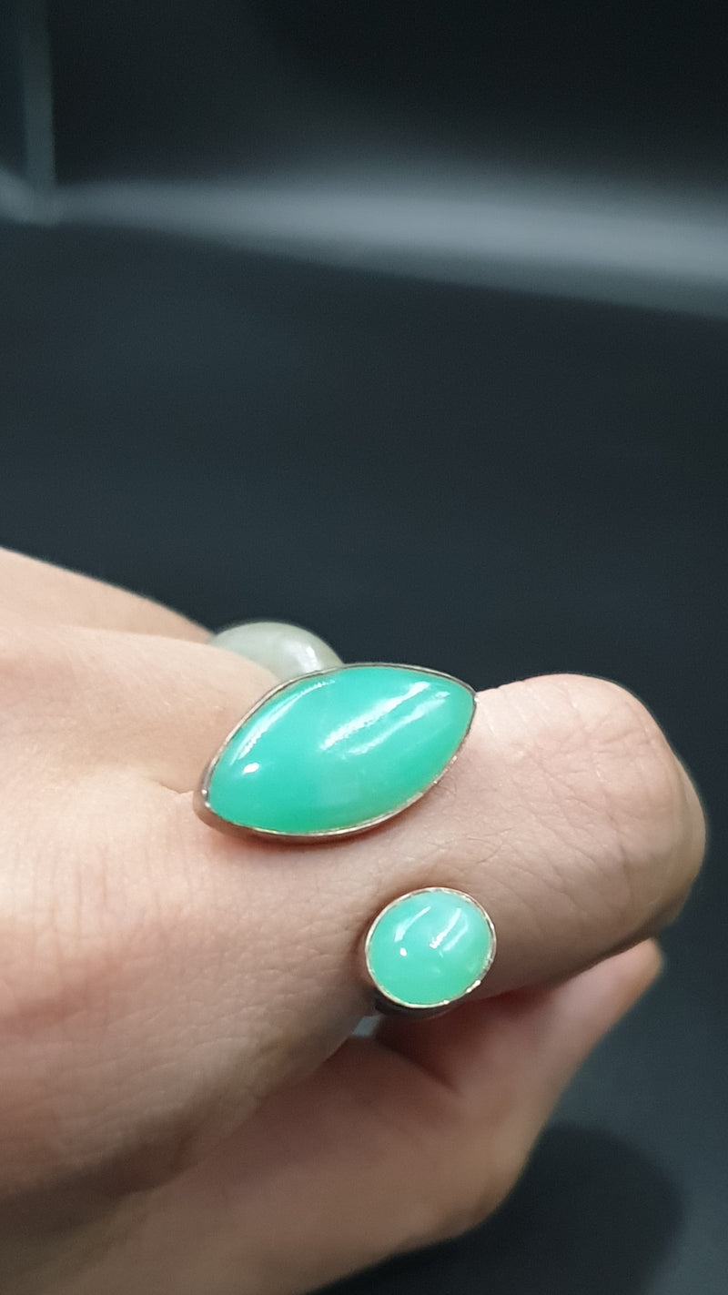 Chrysoprase Ring (adjustable)
